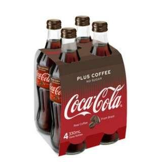 Coca-Cola Plus Coffee澳洲版可口可樂 330ml 玻璃樽裝