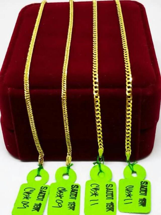 18k saudi gold mens bracelet
