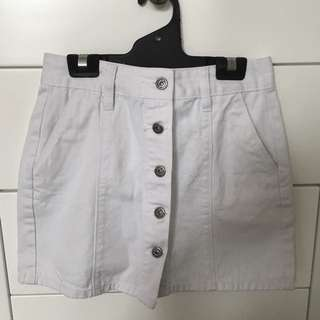 """Junkfood Jeans"" White Denim Skirt"