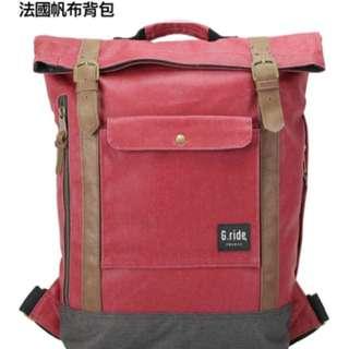 🚚 Traveler法國帆布包(紅色)