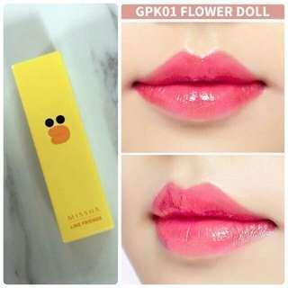 清貨 全新 Missha X Line Friends 有色潤唇膏 GPK01 Flower Doll
