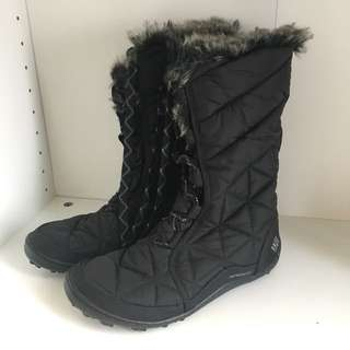 COLUMBIA FUR BOOTS BLACK