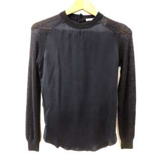 Carven navy dark blue sweater size S
