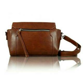 Leather Import Sling Bag