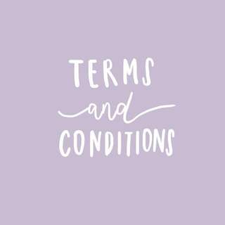 terms & conditions!