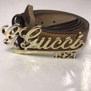 🈹全新 Gucci Leather Belt