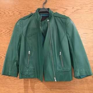 EQ:IQ Leather Jacket