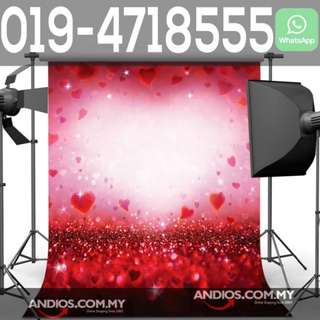 In-Stock✔Wedding Valentines Love Couple Backdrop Cloth Background 3*6m