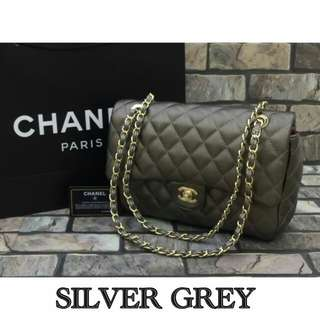 Chanel Caviar Medium Caviar Silver Grey