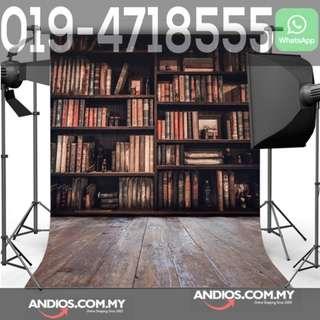 In-Stock✔Library Bookshelf Bookcase Backdrop Graduation Convo Convocation 3*6m