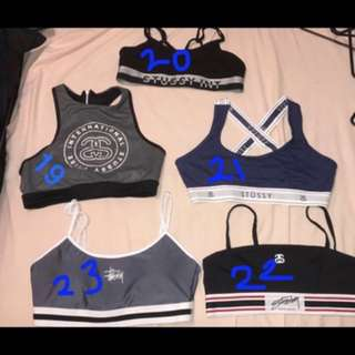 Stussy sports bra/ bikini top
