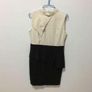 Monochrome Office Dress