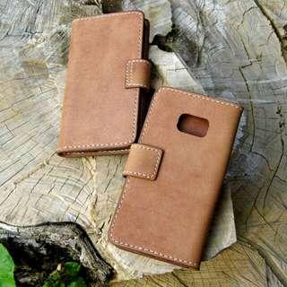 Samsung 6S edge 皮革手機套 手機殼 手製銀包 leather phone case cover DIY
