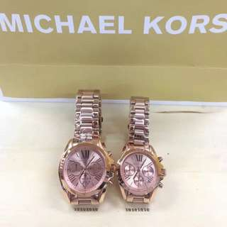 MK Rosegold couple watch