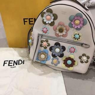 Authentic Fendi floral mini backpack
