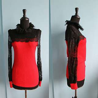 Red Long Sleeves (lace sleeve)