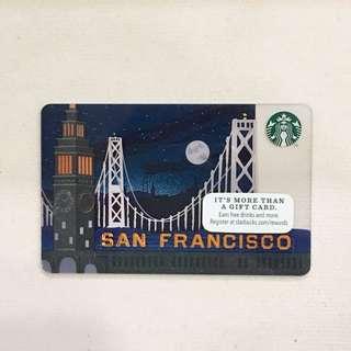 Starbucks Card San Francisco at Night (no load)