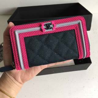 Authentic Chanel Boy Wallet