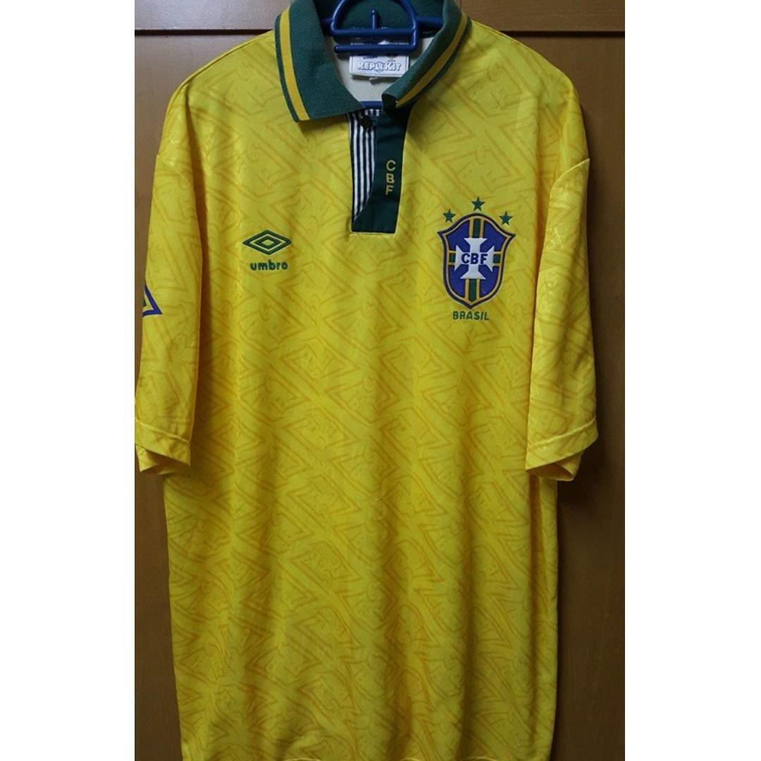 096c2257c 1991-93 Brazil Home Jersey XL