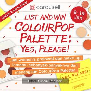 List and Win ColourPop Pallete : Yes Please !