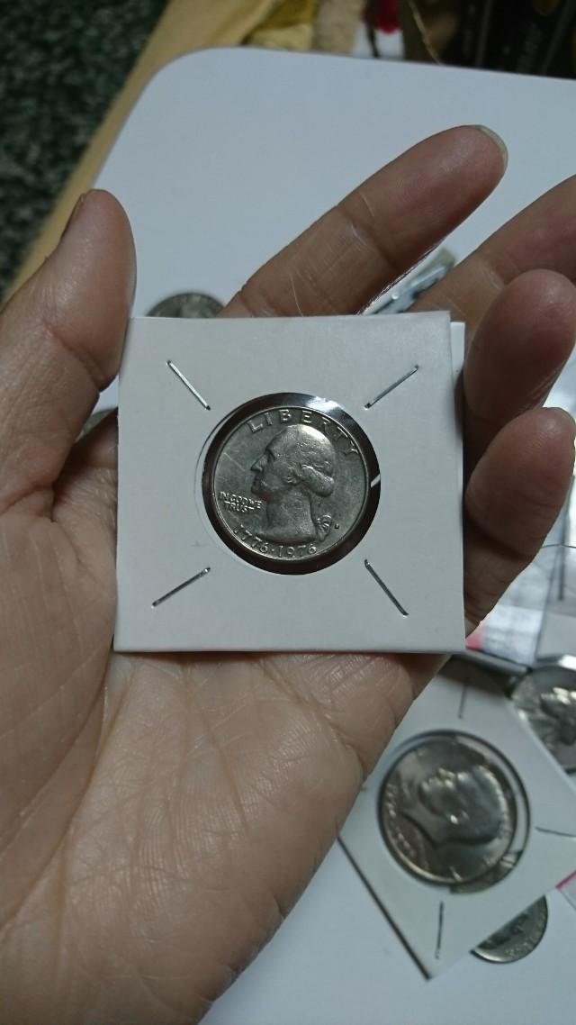 美國200週年華盛頓25美分紀念幣