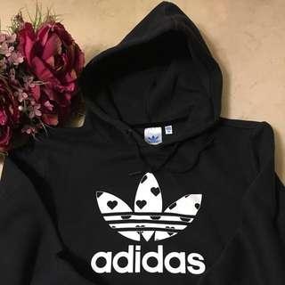Adidas黑色帽T(正品)女裝,尺寸38