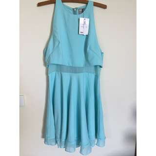 NWT ASOS Size 12 dress in turquoise