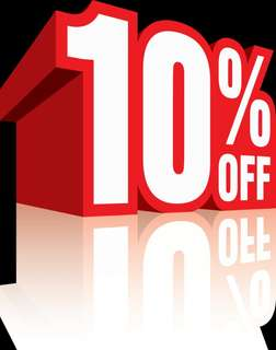 10% discount for all item. Jan 9 until Jan 15th.