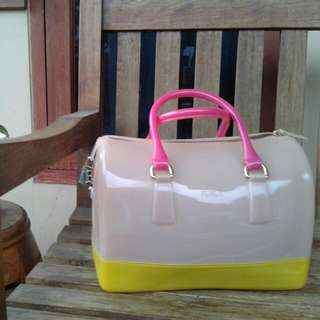 Turun Harga FURLA Candy Bag 3 Tone-Authentic