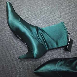 OshareGirl 01 歐美簡約風格尖頭低跟踝上靴踝靴短靴