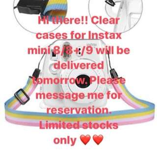 Instax Mini 8/8+/9 Clear case