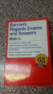 Barrons Regents and Answers Math A Paperback Book