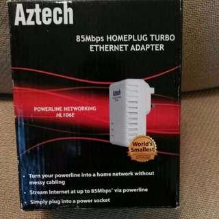 全新 AZTECH 85M Homeplug Full Box Set