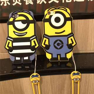 Minion Silicon Iphone 6/6s/6+/7/7+/8/8+/X Mobile Casing