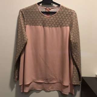 Juwita KL Pink Blouse Top