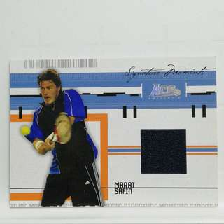 Ace Certified Authentic Tennis Relic#/500 Marat Safin Russia