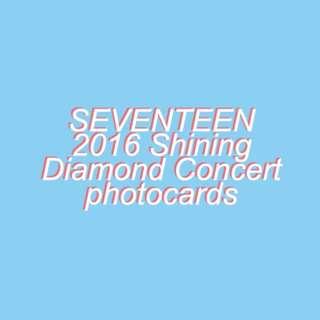 Seventeen 2016 Shining Diamond Concert photocards