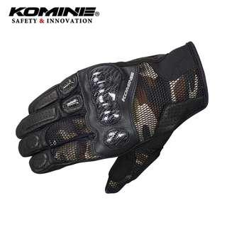Komine GK-197 3D Mesh Knuckle Gloves (CAMO)