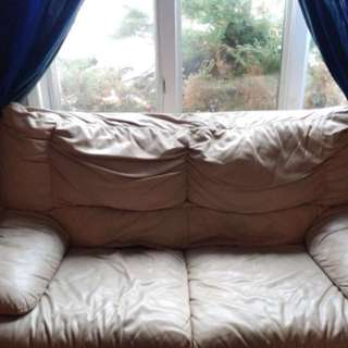 Cream Colour Couch Set (couch and loveseat)