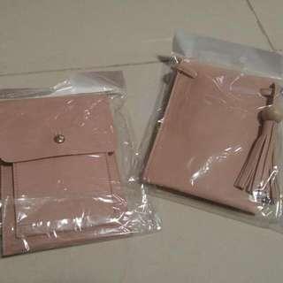 全新 輕便 小手袋仔 粉色 (手機放得落) 姊妹袋1個 Hkd20 Each Small Bag Pink Color