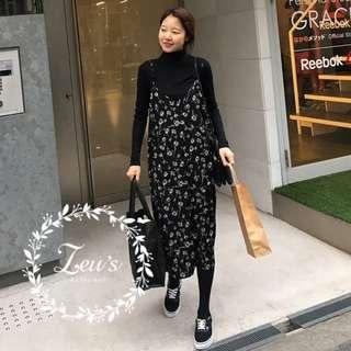 【ZEU'S】韓國休閒百搭吊帶裙『 12117801 』【現+預】LA
