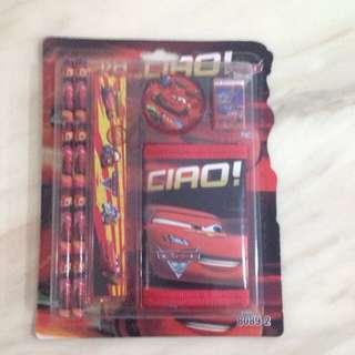 McQueen cars wallet set