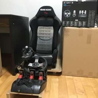 Logitech G27 With (BRIDE Brand) Sport Seat Full Set-up