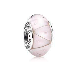 💯 Authentic PANDORA Pink Looking Glass Murano Charm