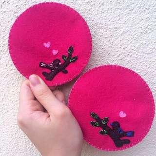 Handmade Felt Coasters, Dining Table Accessories