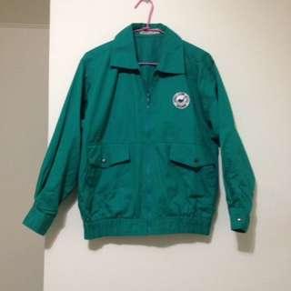 挺版 超可愛湖水綠雙口袋外套