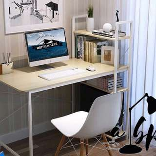 Computer Table with Book Rack