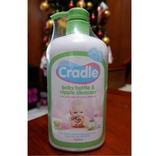 SEALED Cradle baby bottle and nipple cleanser