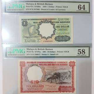 Singapore Banknote 1959-1961 Malaya and British Borneo