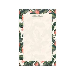 Personalized Notepads - Tropical Banana Leaves